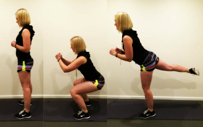 Squat con Kick-Back
