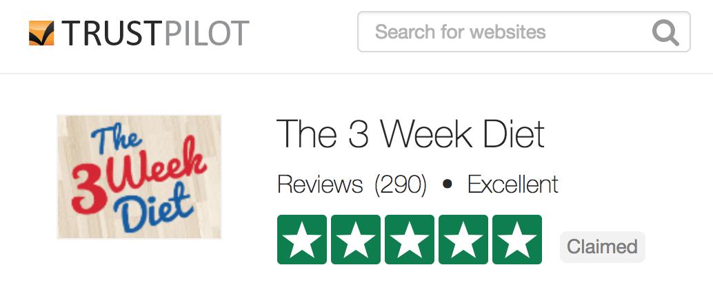 3 week diet trustpilot reviews